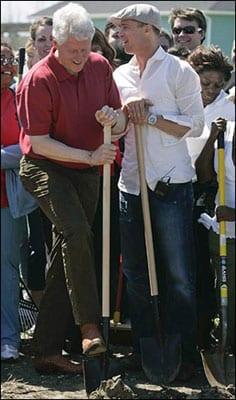 Clinton y Pitt