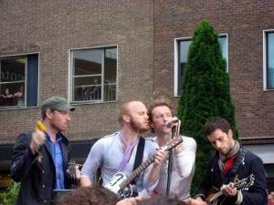 Coldplay en un concierto en Londres