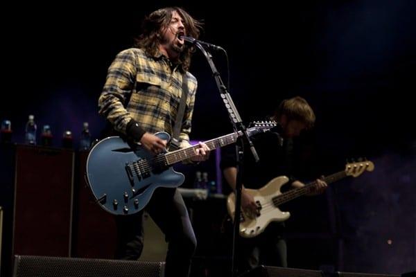 Foo Fighters durante un concierto