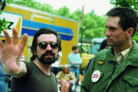 Martin Scorsese en el rodaje de Taxi Driver