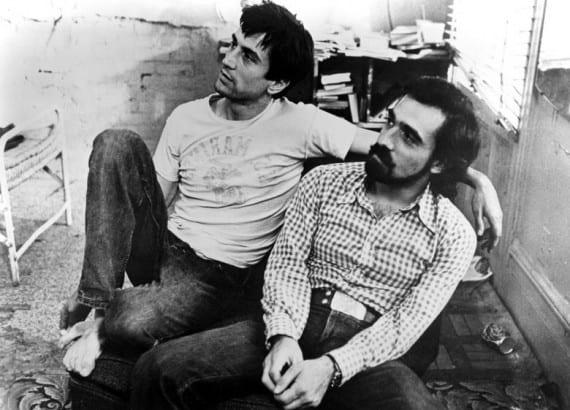 Robert De Niro y Martin Scorsese en el rodaje de Toro Salvaje