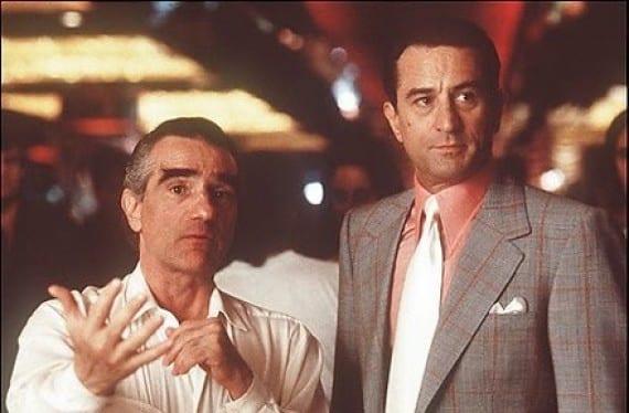 """Martin Scorsese y Robert De Niro en el rodaje de """"Casino"""""""