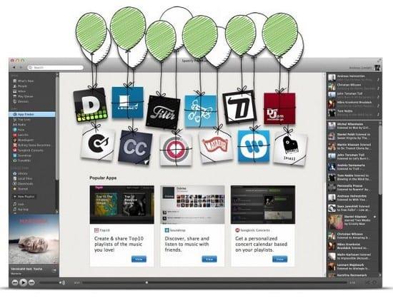 Las nuevas aplicaciones de Spotify