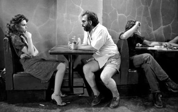 """Francis Ford Coppola en el rodaje de """"La ley de la calle"""""""