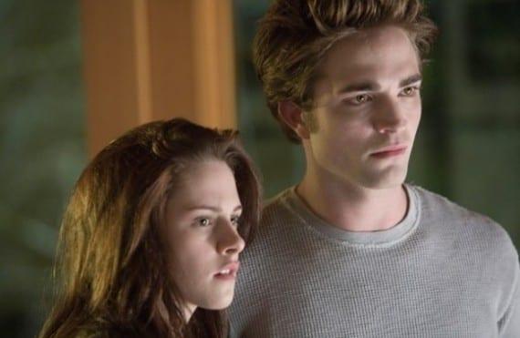 Kristen Stewart y Robert Pattinson en Crepúsculo