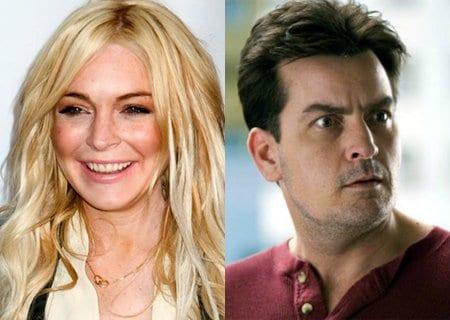 Lindsay Lohan y Charlie Seen