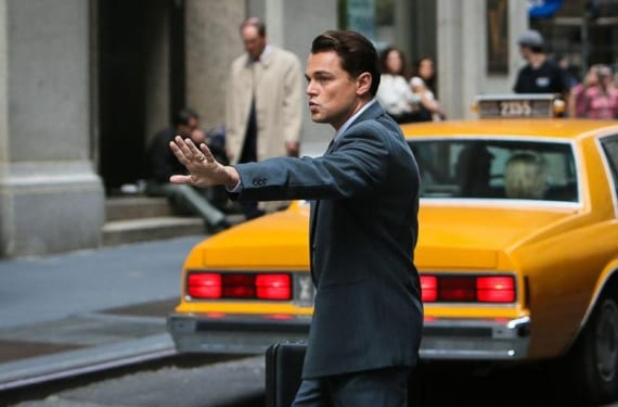 Escena de Leonardo DiCaprio en 'The Wolf of Wall Street'.