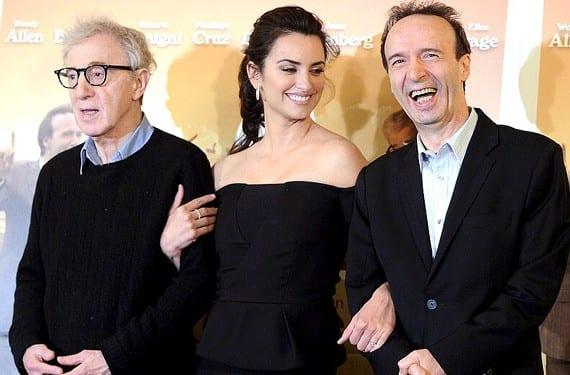Penélope Cruz, Roberto Benigni y Woody Allen juntos en 'A Roma con amor'.