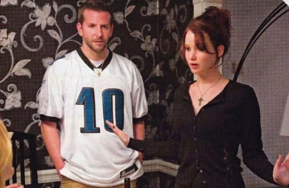 Bradley Cooper con Jennifer Lawrence en Silver Linings Playbook