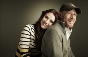 Bryce Dallas Howard y su padre Ron Howard