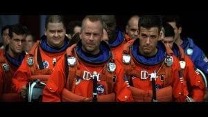 Bruce Willis y Ben Affleck protagonistas de Armageddon.