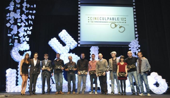 Los ganadores del 15ª Cineculpable en el Auditori Municipal de Vila-real.
