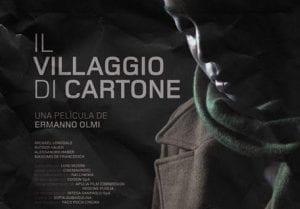 Cartel de 'Il villaggio di cartone' de Ermanno Olmi.