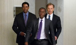"Denzel Washington, Don Cheadle y Bruce Greenwood en ""El vuelo (Flight)"""