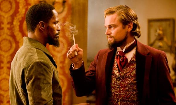"Leonardo DiCaprio y Jamie Foxx en ""Django desencadenado"","