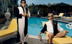 Michael Douglas y Matt Damon juntos en 'Behind the Candelabra'.
