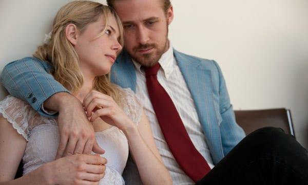 "Ryan Gosling y Michelle Williams en ""Blue Valentine""."