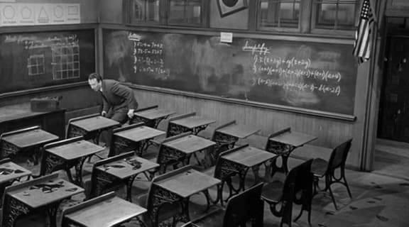 Escena de la película 'Semilla de maldad'.