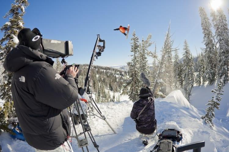 Escena del rodaje de 'The art of flight 3D'.