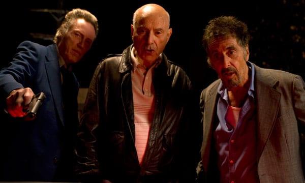 Alan Arkin, Christopher Walken y Al Pacino en la película 'Tipos legales'.