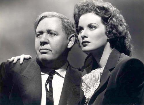 Charles Laughton y Maureen O'Hara en una escena de 'Esta tierra es mía'.