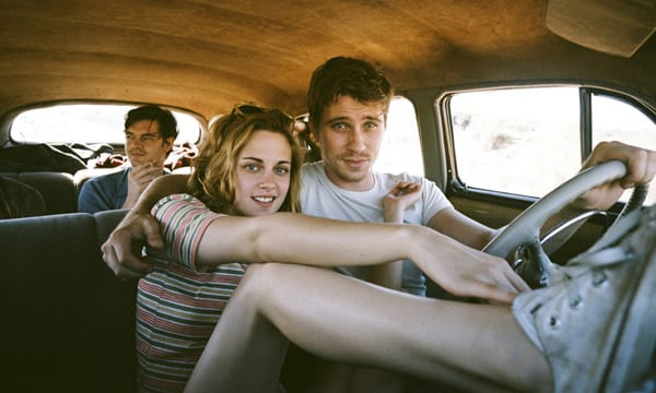 Garrett Hedlund, Sam Riley y Kristen Stewart en 'On the road (En la carretera)'.