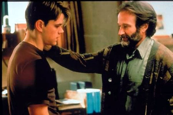 Matt Damon y Robin Williams en una escena de 'El indomable Will Hunting'.