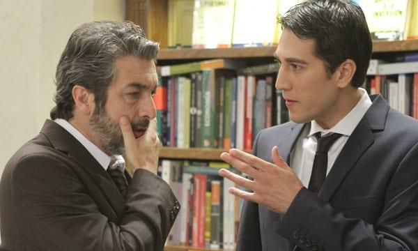 """Ricardo Darín y Alberto Ammann en una escena de """"Tesis sobre un homicidio"""""""