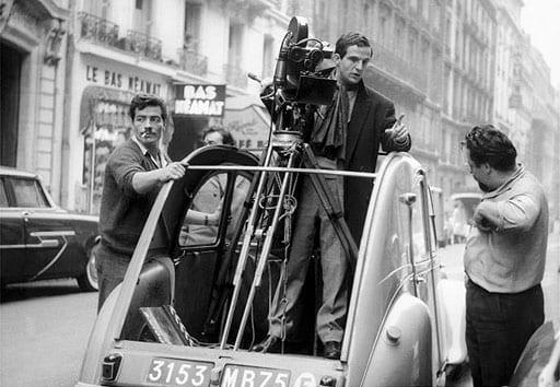 François Truffaut en el rodaje de 'Los cuatrocientos golpes'.