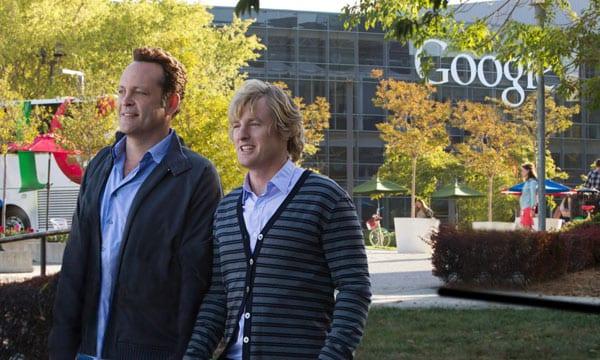 Vince Vaughn y Owen Wilson juntos de nuevo en 'Los becarios'.