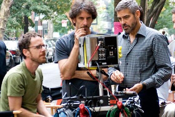 George Clooney junto a los hermanos Coen