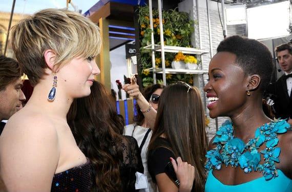 Jennifer Lawrence y Lupita Nyong'o