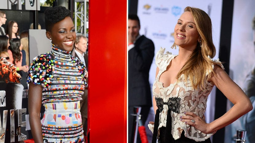 Lupita Nyong'o y Scarlett Johansson