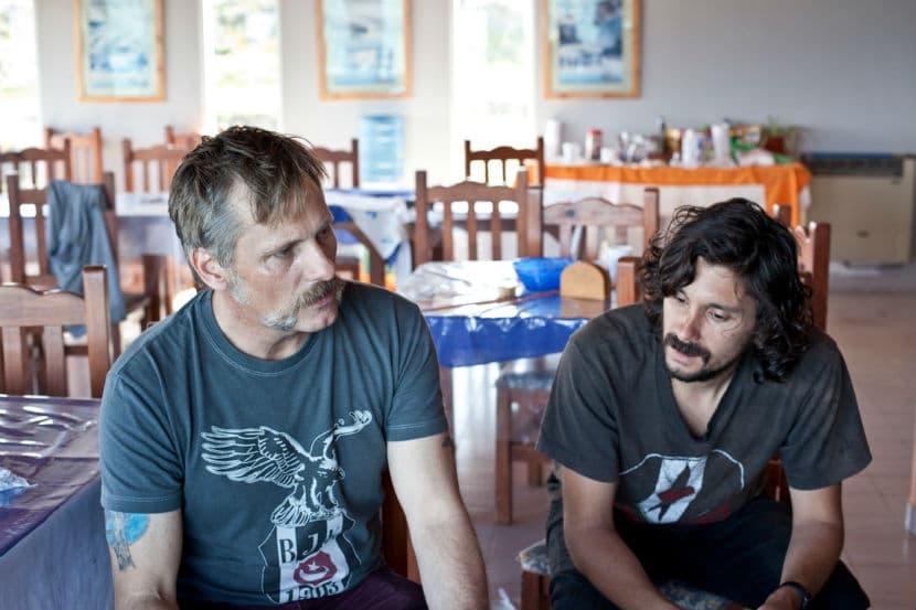 Viggo Mortensen y Lisandro Alonso en el rodaje de Jauja