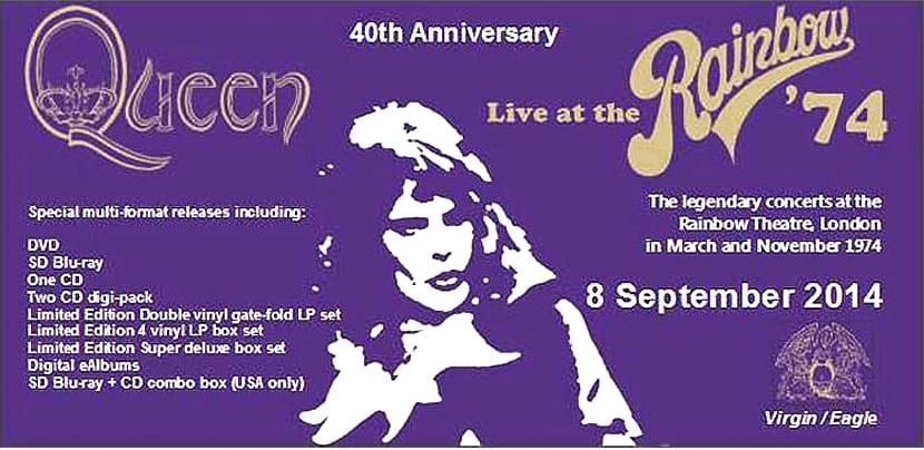 Queen Rainbow 1974 septiembre