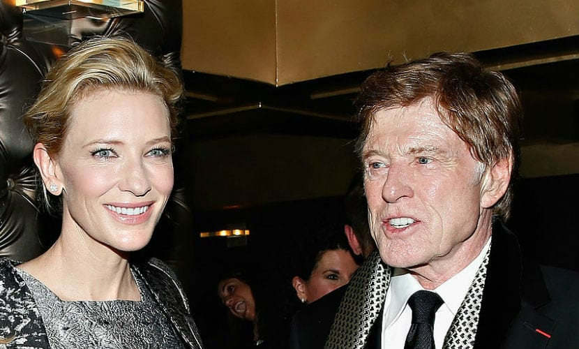 Cate Blanchett y Robert Redford
