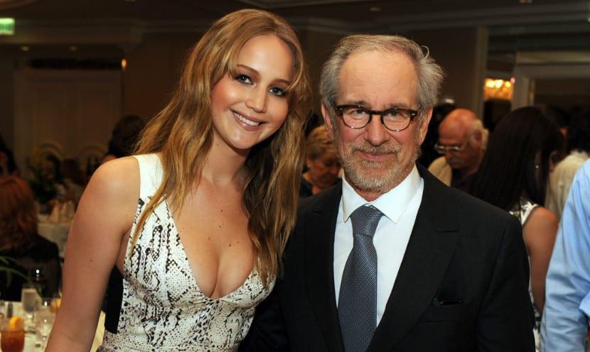 Jennifer Lawrence y Steven Spielberg