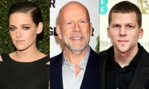 Kristen Stewart, Bruce Willis y Jesse Eisenberg
