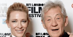 Cate Blanchett y Sir Ian Mackellen