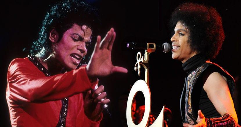 Prince y Michael Jackson