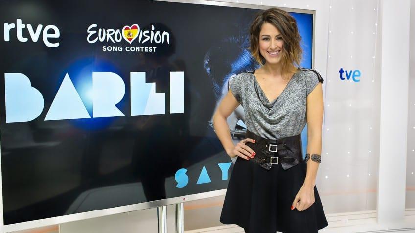 ensayo de Eurovisión de Barei