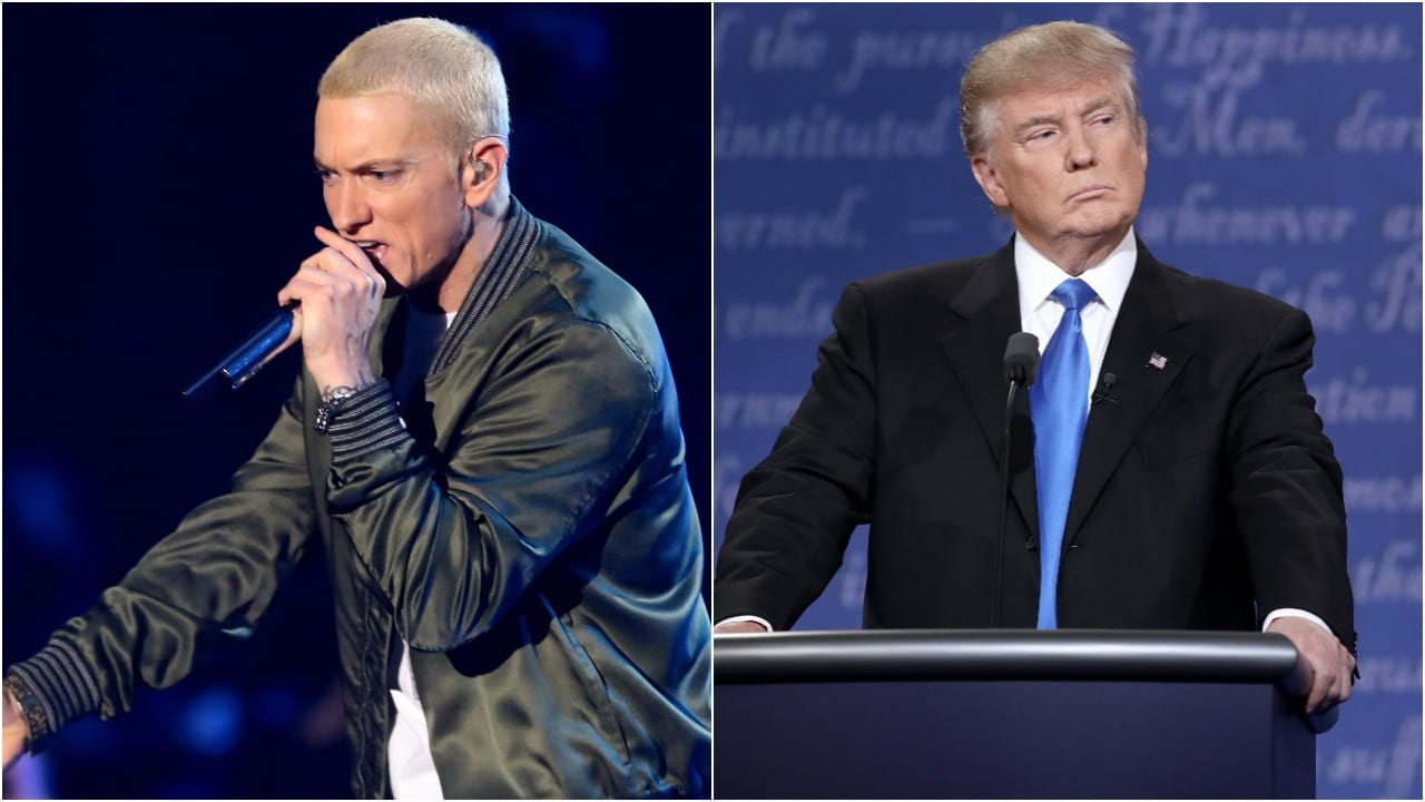 Eminem entra en la campaña americana contra Donald Trump