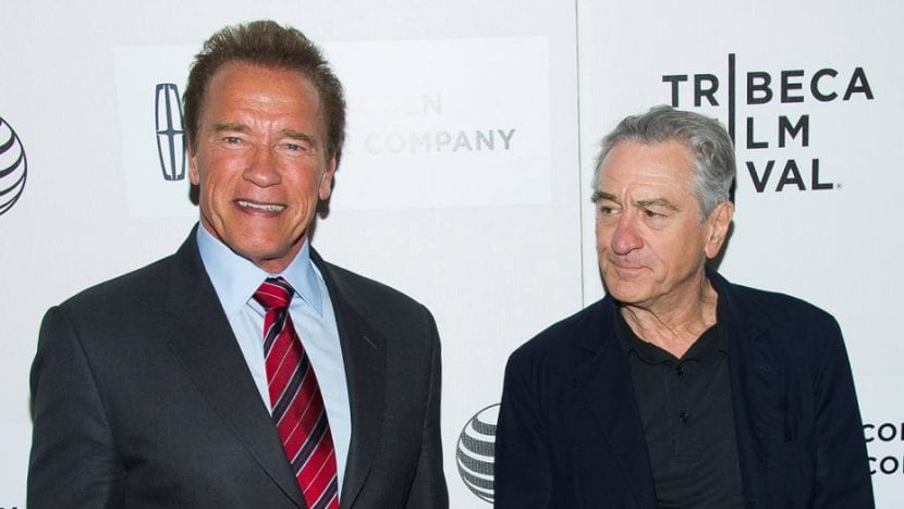 Robert De Niro y Arnold Schwarzenegger contra Donald Trump