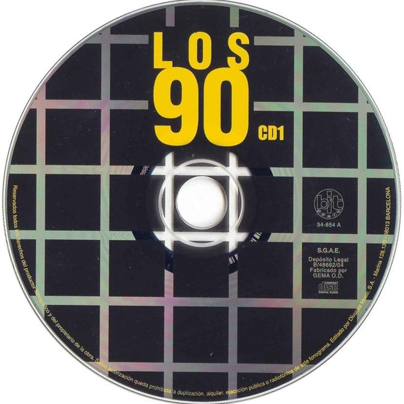 música de los 90